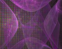 Fractale abstraite de boucle de Digital, imagination futuriste de conception de beau papier peint de texture illustration libre de droits