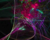 Fractale abstraite de boucle de Digital, imagination futuriste de conception papier peint fantastique de texture de beau illustration de vecteur