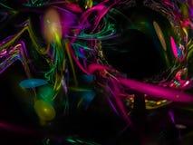 Fractale abstraite de Digital, conception exclusive de belle de calibre en texture puissance de composition, imagination, de fête illustration stock