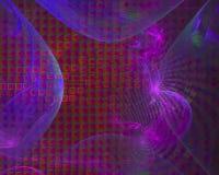 Fractale abstraite de Digital, imagination futuriste de conception papier peint fantastique de texture de beau illustration de vecteur