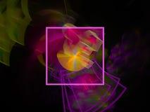 Fractale abstraite de style de Digital futuriste, conception graphique de texture moderne belle, imagination, de fête illustration stock