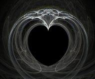 Fractale avec le coeur Images libres de droits