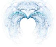 Fractale avec le coeur Photo libre de droits