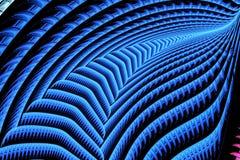 Fractale bleue carrée abstraite sur le contexte noir Image libre de droits