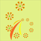 Fractale d'automne Bagout de vecteur pour la conception illustration de vecteur