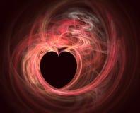 Fractale de coeur Images libres de droits