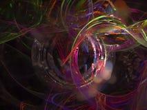 Fractale de résumé numérique, future conception numérique magique, disco illustration de vecteur
