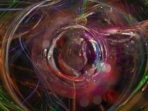 Fractale de résumé numérique, future conception numérique magique dynamique, disco illustration de vecteur
