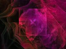 Fractale dynamique numérique, future conception noire abstraite de particules d'effet de modèle surréaliste de mystère, partie, c illustration libre de droits