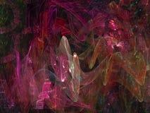 Fractale dynamique numérique, future conception noire abstraite de particules de puissance d'effet de modèle surréaliste de mystè illustration stock