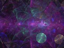 Fractale dynamique numérique, future conception noire abstraite de particules surréalistes, partie, carte, de fête illustration stock