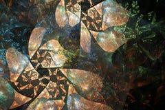 Fractale géométrique de fleur image stock