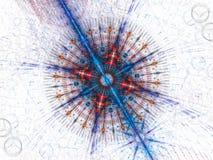 Fractale galactique colorée illustration stock