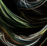 Fractale itérative générée par ordinateur artificielle abstraite de flamme Photographie stock