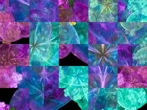 Fractale numérique abstraite, beau style de conception de modèle fantastique, mosaïque illustration stock