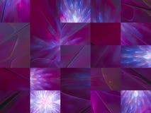 Fractale numérique abstraite, belle conception fantastique, mosaïque illustration stock