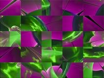 Fractale numérique abstraite créative, style graphique de couverture de fleur de papier peint fantastique, mosaïque illustration stock