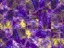 Fractale numérique abstraite, style graphique de décoration de papier peint fantastique, mosaïque illustration de vecteur