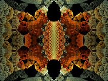 fractale omnisciente de flamme du bord 3D illustration stock