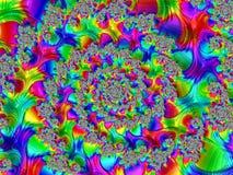Fractalen avbildar flerfärgat Royaltyfria Bilder