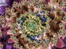 Fractalen avbildar flerfärgat Arkivfoto