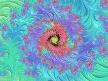 Fractalen avbildar flerfärgat Arkivbild