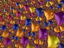 Fractalen avbildar flerfärgat Royaltyfria Foton