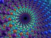 Fractalen avbildar flerfärgat Arkivbilder