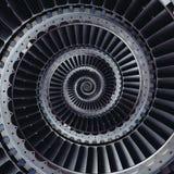 Fractalen för abstrakt begrepp för effekt för spiralen för vingar för turbinblad mönstrar tillbaka Royaltyfri Fotografi