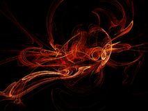 Fractales chaudes Image stock