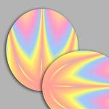 Fractales ovales en colores pastel Imágenes de archivo libres de regalías