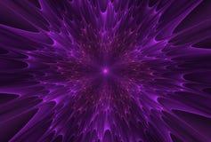 Fractalexplosionstjärna med glans och linjer royaltyfri illustrationer