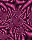 fractalfushiasatäng vektor illustrationer