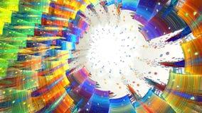 Fractalhintergrund mit abstrakter heller Spirale Hohe ausführliche Schleife stock video
