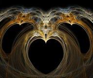 fractalhjärta Fotografering för Bildbyråer