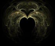 fractalhjärta Arkivfoto