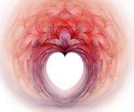 fractalhjärta Arkivbild