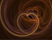 fractalhjärta vektor illustrationer