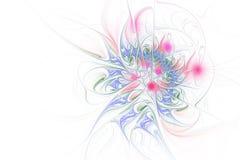 Fractalillustration av ljus bakgrund med den blom- prydnaden vektor illustrationer