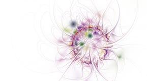 Fractalillustration av ljus bakgrund med den blom- prydnaden stock illustrationer