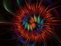 Fractalillustration des hellen Hintergrundes mit Blumenverzierung lizenzfreie abbildung