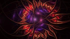 Fractalillustration des hellen Hintergrundes mit Blumenverzierung vektor abbildung