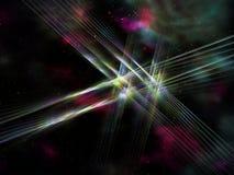 Fractalinus return. Fractal lines on cosmic background Stock Photos