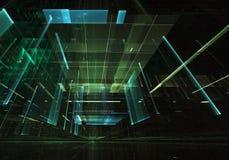 Fractalkonst - bild för dator 3D, teknologisk bakgrund Royaltyfri Illustrationer