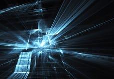 Fractalkonst - datorbild, teknologisk bakgrund Arkivfoton