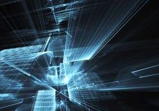 Fractalkonst - datorbild, teknologisk bakgrund Royaltyfri Foto