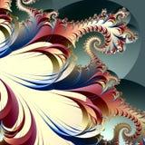 Fractalkonstverk royaltyfri illustrationer