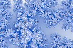 Fractalkort i mjuk snöflinga i efterföljd av frostigt exponeringsglas royaltyfri illustrationer