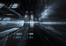 Fractalkunst - Bild des Computers 3D, technologischer Hintergrund Lizenzfreie Stockfotografie