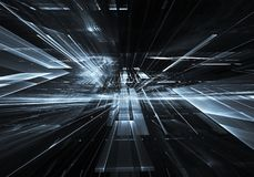 Fractalkunst - Bild des Computers 3D, technologischer Hintergrund Stockbilder